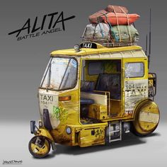 Okay it's that time to start posting Alita:Battle Angel work. was brought on to work on a bunch of the background vehicles that you see in Alita! We start this off with the taxis in Alita. Prop Design, Game Design, Alita Movie, Cool Car Drawings, Cyberpunk Character, Futuristic Art, Game Character Design, Environment Concept Art, Dieselpunk