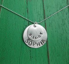 Name and Birthday Necklace. Maybe for Christmas?