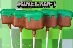 Minecraft Grass Block Cake Pops