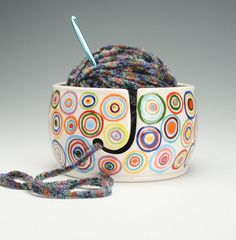 Yarn Bowl for Knitting and Crochet  Hand by owlcreekceramics, $40.00