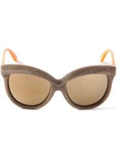 Italia Independent By Chiara Ferragni Velvet Effect Cat Eye Sunglasses - Cumini - Farfetch.com