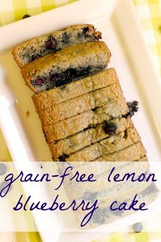Incredible Grain Free Lemon Blueberry Cake (Gluten Free, Paleo-Friendly!)