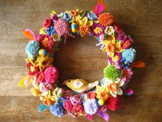 Easter Wreath made by Attic 24. Links to all the flower tutorials in post. Absolutely stunning.