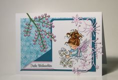 blog.karten-kunst.de - Frohe Weihnachten Lullaby. Wee Stamps Lullaby, Poppy Stamps Stanzschablone Holiday Winterberries, Memory Box Frosty Border