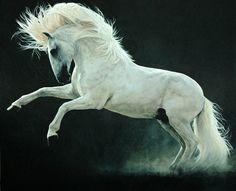 Lesley Thiel - Diabo1 - Contemporary Art Online | Fine Art Gallery Website | Equestrian Art | Sculpture & Sculptures | Limited Edition Giclee Prints - Charlotte Bowskill Fine Art