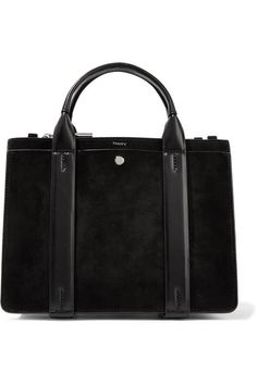 THEORY West mini leather-trimmed suede tote.  theory  bags  shoulder bags 6aee4f9ecde