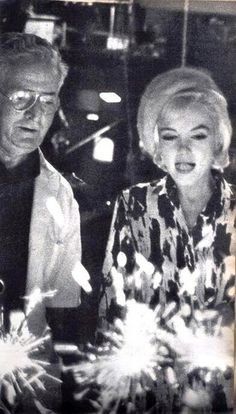 Birthday sparklers! Marilyn's 36th Birthday - 1st June 1962. On the set of 'Somethings Got To Give'.