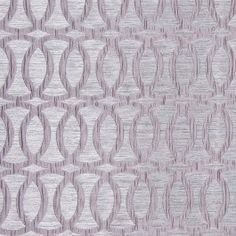 Silver Entwined Circles Brocade 104786 An elegant polyester home fabric featuring texture upon texture: interlocking circles nest atop a striated, woven background. Subtle sheen and satiny feel. This fabric is perfect for bedding, light upholstery, window