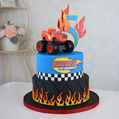 43 Best blaze cakes images | Blaze cakes, Monster trucks, 3 year olds