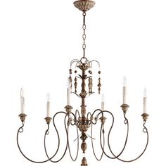 Quorum International Salento Six Light Chandelier  - amazing lighting options at excellent prices - via Bellacor