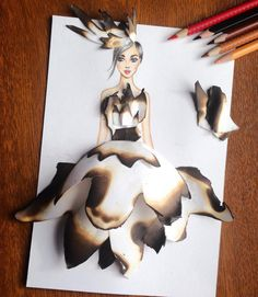 amazing, art, barbie, beautiful, blonde, classy, clothes, cool, cute, dark hair, drawing, dress, girl, glamour, hair, image