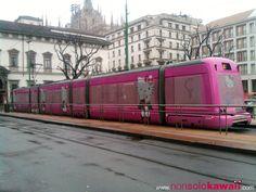 Hello Kitty tram in Milan, Italy