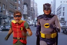 Photoshop mashup of Ben Affleck and Matt Damon with Adam West and Burt Ward as Batman and Robin. Adam West Batman, Batman Robin, Batman 1966, Ben Batman, Funny Batman, Batman Jokes, Batman Stuff, Batman Art, Ben Affleck Batman