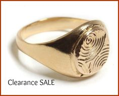 CLEARANCE SALE, Spiral Signet ring, Ready to Ship, 14K Gold plated, Spiral Etching Ring, Seal Ring, Statement Pinky Ring, Holiday Gift idea