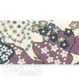 Liberty of London Ribbon Flat Purple and Blue Pansy Mix 20mm 1metre