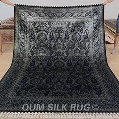 QUM SILK RUG black chinese style rug pure silk on silk in... https://www.amazon.com/dp/B01N63FP5Y/ref=cm_sw_r_pi_dp_x_BM8kybZWPN02G