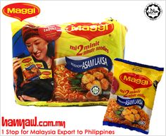 We export Maggi Noodles Instant Asam Laksa to philippines. Visit-http://www.hanyaw.com.my/Products/Maggi_Noodles_Instant_Asam_Laksa.html