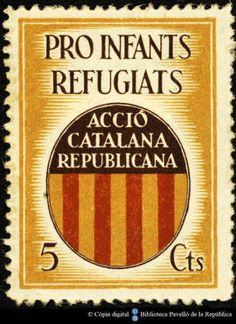 Temes-Varis Campanyes Guerra civil :: Segells del Pavelló de la República (Universitat de Barcelona)