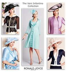 Mother of the Bride or Groom outfits and occasion wear from Veni Infantino for RonaldJoyce spring/summer 2015 collection.