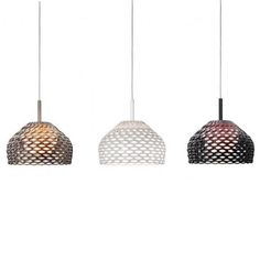 The Tatou Pendant Light by Patricia Urquiola for Flos is a series of lights with a design inspired by classic antique Japanese armour. The name 'Tatou' is French for armadillo - a creature with a leather protective shell. Home Projects, Lamp, Ceiling Lights, Interior Styling, Lights, Home Renovation, Pendant Light, Light, Flos