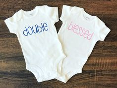 Twins Pregnancy Announcement | Twins Outfits | Twins Bodysuits | Gift for Twins | Baby Arrival | Baby Shower Gift | Baby BodySuit