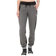adidas Limited Edition Pants Women's Casual Pants ($65) ❤ liked on Polyvore featuring pants, stretch waist pants, cotton pants, stripe pants, adidas and pocket pants