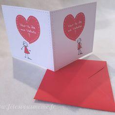 Carte st valentin duo