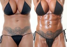 Jodie Marsh clearly displaying the powers of sensible training and nutritional protocols and the effects in just 8 weeks of dedication.
