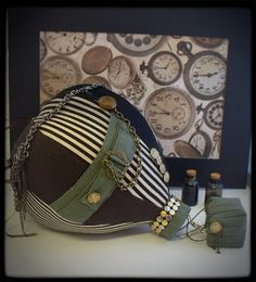 Hot Air Balloon Mobile  Deluxe Steampunk No.1 by Egg by EggandNest, $60.00