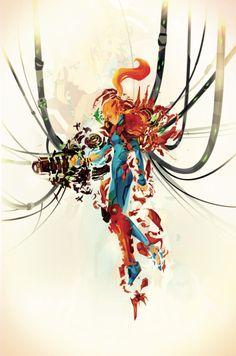 Art inspired by Metroid and Samus Aran Created by ChasingArtwork
