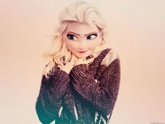 disney modern world - Elsa love her sweater and hair Film Disney, Arte Disney, Disney Magic, Disney Art, Disney Movies, Rapunzel, Disney Princess Fashion, Disney Style, Disney Actual