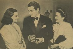 Vivien Leigh, Laurence Olivier, and Olivia de Havilland at the Academy Awards in 1940.
