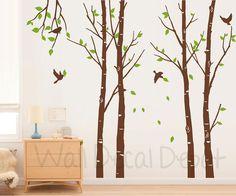 Vinyl Tree Wall Decal Tree Wall Sticker Art by WallDecalDepot, $86.00