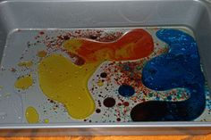 Exploring the properties of oil and water, and the color palette.