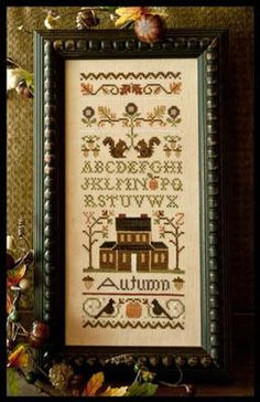 Autumn Band Sampler - Cross Stitch Pattern  by Little House Needleworks