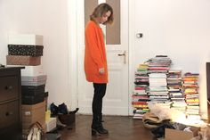 BelleOnEarth: OUTFIT // ACNE ORANGE CARDIGAN & MINT GREEN SHIRT & CYPRESS CON BLACK