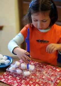 Fine motor skills activity - Re-pinned by #PediaStaff. Visit http://ht.ly/63sNt for all our pediatric therapy pins