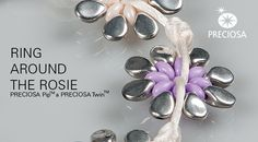 free pdf -Bracelet made from PRECIOSA Pip™ and PRECIOSA Twin™  ~ Seed Bead Tutorials