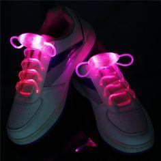 2016 Glow Light up Shoe Laces 1 Pair Led Luminous Shoelaces Strings Lock Rope Cordones Zapatilla Coloured lacet chaussure Glow Shoes, Light Up Shoes, Luz Led, Glow Sticks, Kinds Of Shoes, Boho, Your Shoes, New Fashion, Shopping
