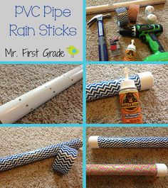 PVC rain sticks for transitions during Daily 5. VERY easy and super inexpensive!! Mr. First Grade