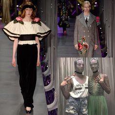 Gucci Fall/Winter '17.  @gucci #gucci #mfw #milano #mfw2017 #fallwinter #italy #alessandromichele #designer #fashion #fashionblogger #cottonfancy #fashionweek #runway #design #followme #embroidery #glitter #chic #beautiful #pretty #instafollow. Follow me for fashion updates.
