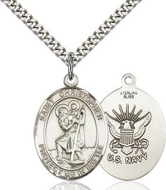 St. Christopher Pendant (Sterling Silver) by Bliss | Catholic Shopping .com