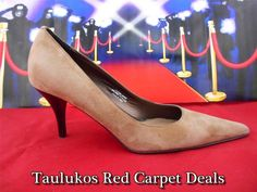 Womens shoes CASUAL CORNER Light Brown SUEDE LEATHER High Heels Pumps ITALY 6 M #CasualCorner #PumpsClassics