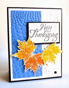 Welcome to the Love of Flowers: CTD316, Happy Thanksgiving... LOVE that bright blue mixed in with the fall colors!