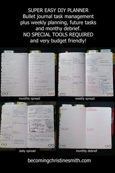 super easy DIY planner