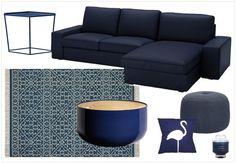 Une touche de bleu marine dans la déco | Salon bleu, Bleu marine et ...