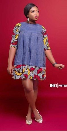 Checkout these combination of Ankara and jean fabric for the classy ladies Short African Dresses, Latest African Fashion Dresses, African Print Fashion, Africa Fashion, African Print Dresses, African Inspired Clothing, Moda Plus Size, African Attire, Couture