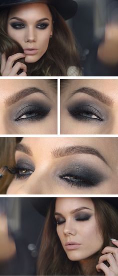 Best #makeup ideas with #grey http://mymakeupideas.com/almost-50-shades-of-grey-or-the-best-makeup-ideas-with-grey/