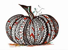 zentangle pumpkin!