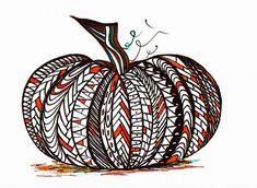 zentangle pumpkin!